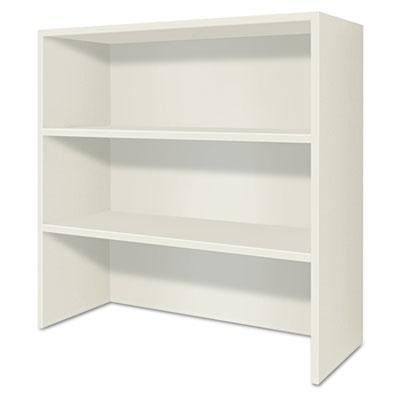 Voi bookcase hutch, 36w x 14d x 35h, columbian walnut/silver mesh, sold as 1 each