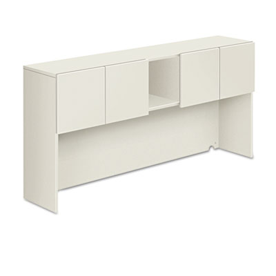 Voi stack-on storage unit, 72w x 14-1/4d x 35h, columbian walnut/silver mesh, sold as 1 each