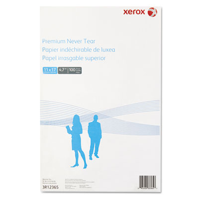 Revolution premium never tear paper, 11 x 17, 4.7 mil, white, 100 sheets/pk, sold as 1 package