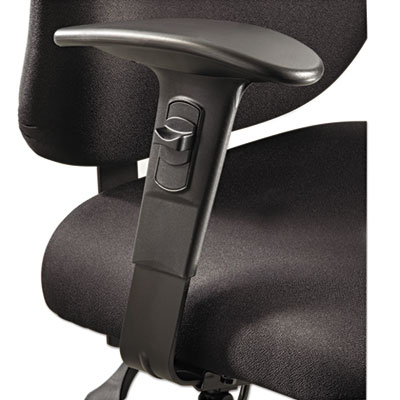 Height/width-adjustable t-pad arms for alday 24/7 task chair, black, 1 pair, sold as 1 pair
