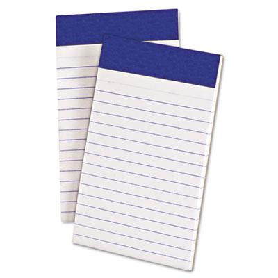 Perforated writing pad, narrow, 3 x 5, white, 50 sheets, dozen, sold as 1 dozen