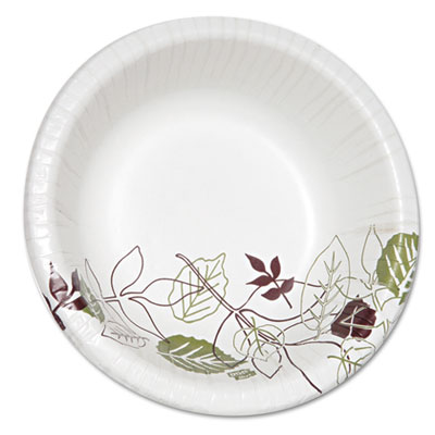 Pathways heavyweight paper bowls, 20oz, white/green/burgundy, 125/pack, sold as 1 package
