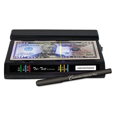 Tri test counterfeit bill detector, uv with pen, 7 x 4 x 2 1/2, sold as 1 each