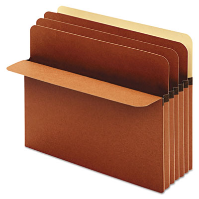 Divider pockets, 2 dividers, redrope, 4 pockets, straight cut, letter, brown, sold as 1 box, 10 each per box