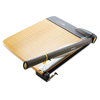 Trimair titanium guillotine paper trimmer, wood base, 12, sold as 1 each