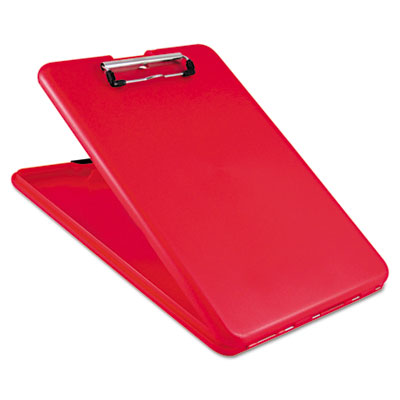 "Slimmate storage clipboard, 1/2"" capacity, holds 8 1/2w x 12h, red, sold as 1 each"