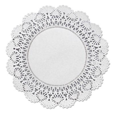 """Cambridge lace doilies, round, 8"""", white, 1000/carton, sold as 1 carton, 1000 each per carton"""