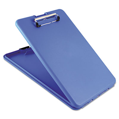 "Slimmate storage clipboard, 1/2"" capacity, holds 8 1/2w x 12h, blue, sold as 1 each"