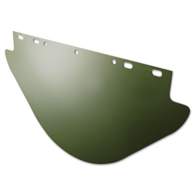Unbound visor for fibremetal frames, dark green, 19w x 9 3/4h, sold as 1 each