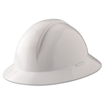 A-safe everest hard hat, white, full brim, slotted, sold as 1 each