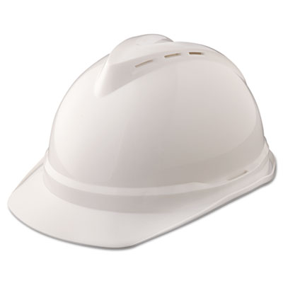 V-gard 500 protective cap vented, 4-point suspension, white, sold as 1 each
