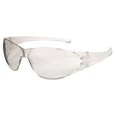 Checkmate safety glasses, clear temple, clear lens, anti fog, sold as 1 each