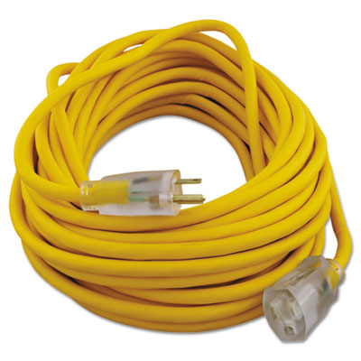 Polar/solar outdoor extension cord, 50ft, yellow, sold as 1 each
