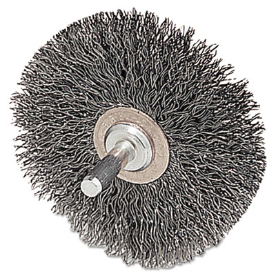"""Cfx-3 stem-mounted crimped wire wheel, 3"""""""" dia, .0118 wire, sold as 1 each"""
