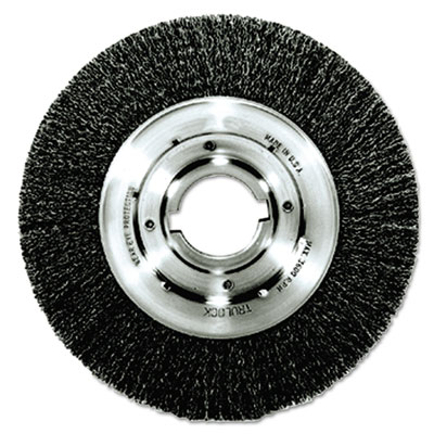 "Trulock tlm-10 narrow-face crimped wire wheel, 10"""" dia, .014 wire, arbor dia: 2, sold as 1 each"