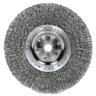 "Trulock tln-6 narrow-face crimped wire wheel, 6"""" dia, .014 wire, sold as 1 each"