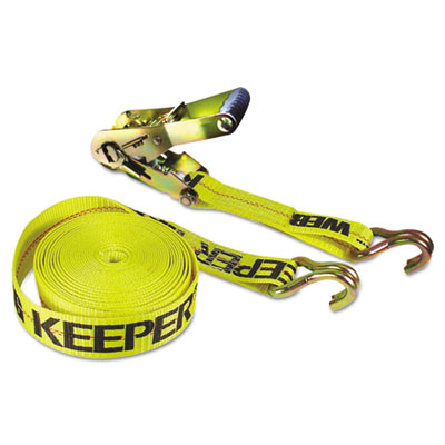 Ratchet tie-down strap, 2in x 27ft, 10000lb cap, double-j hook ends, sold as 1 each