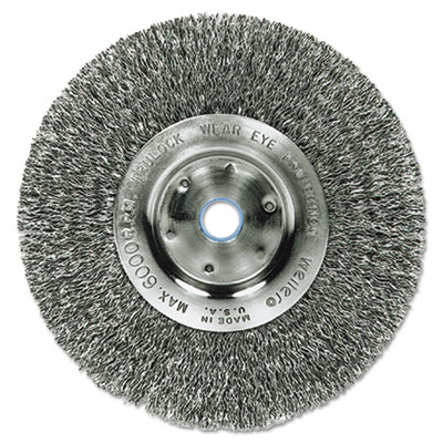 "Trulock tln4 narrow-face crimped wire wheel, stainless steel, 4"""" dia, .0118 wire, sold as 1 each"