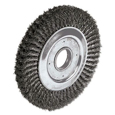 """Dualife twist-knot wire wheel, 10"""""""" dia, 1 3/4"""""""" trim, .016 wire, 2"""""""" arbor, sold as 1 each"""