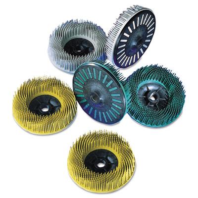 Scotch-brite bristle disc, 4 1/2in diameter, grit: 36, sold as 1 each