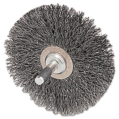 """Cfx-2 stem-mounted crimped wire wheel, 2"""""""" dia, stainless steel, .0118 wire, sold as 1 each"""