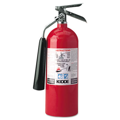 Proline pro 10 carbon dioxide fire extinguisher, 10lb, 10-b:c, sold as 1 each