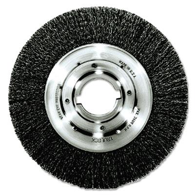 "Trulock tln-8 narrow-face crimped wire wheel, 8"""" dia, .014 wire, arbor dia: 2, sold as 1 each"