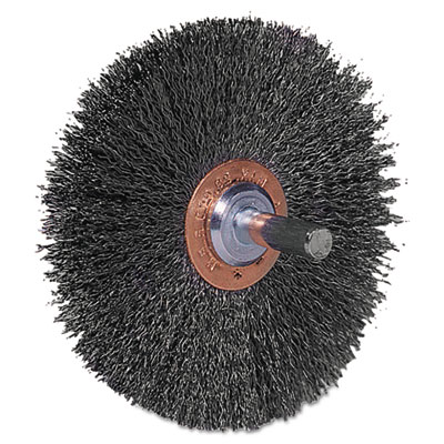 "Cfx-3 stem-mounted crimped wire wheel, 3"""" dia, stainless steel, .008 wire, sold as 1 each"