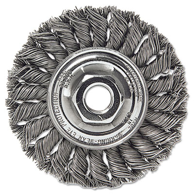 """Dualife st-8 twist knot wire wheel, 8""""""""dia, .023 wire, sold as 1 each"""