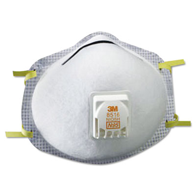 N95 particulate respirator, nuisance level acid-gas relief, sold as 10 each
