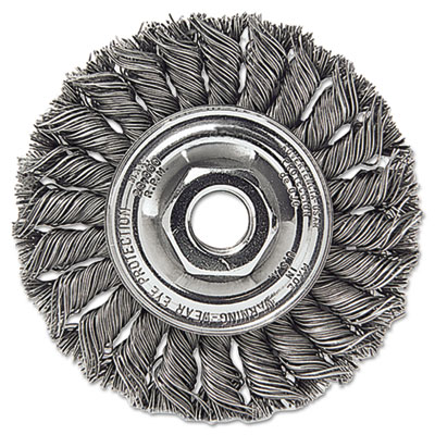 "Dualife sta-4 twist knot wire wheel, 4"""" dia, stainless steel, .014 wire, sold as 1 each"
