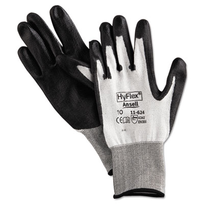 Hyflex dyneema cut-protection gloves, gray, size 10, 12 pairs, sold as 12 pair