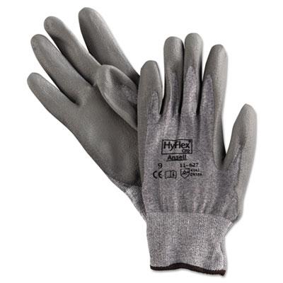 Hyflex 627 light-duty gloves, size 9, dyneema/lycra/polyurethane, gy, 12 pairs, sold as 12 pair