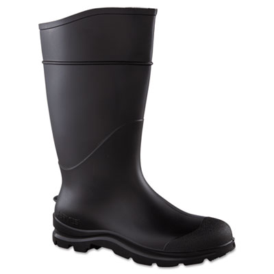 Ct economy knee boots, size 10, 15in tall, black, pvc, sold as 1 pair, 2 per pair