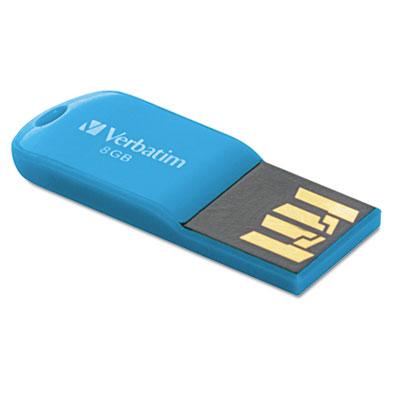 Store 'n' go micro usb 2.0 drive, 8gb, caribbean blue, sold as 1 each