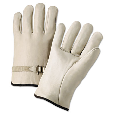 4000 series leather driver gloves, natural, large, 12 pairs, sold as 12 pair