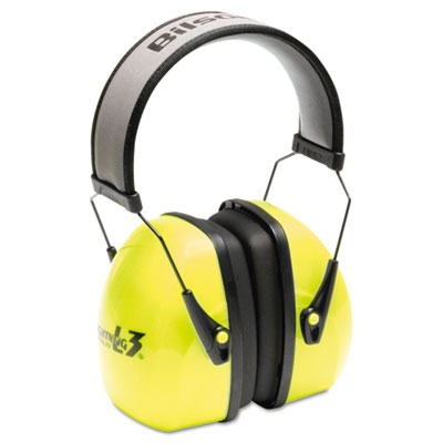 L3hv hi-visibility earmuffs, reflective headband, 30nrr, green/black, sold as 1 each