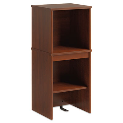 Envoy series narrow hutch, 16w x 14-1/4d x 36-1/4h, hansen cherry, sold as 1 each