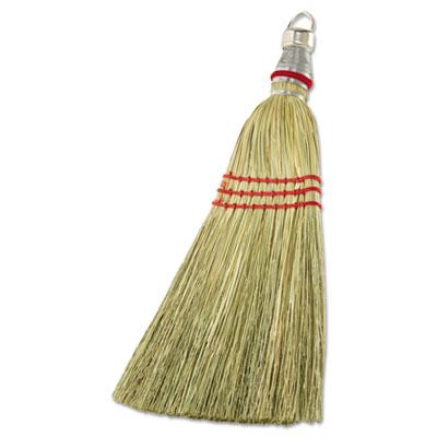 """Whisk broom, corn fiber bristles, 12"""""""" bristles, metal handle, sold as 1 each"""