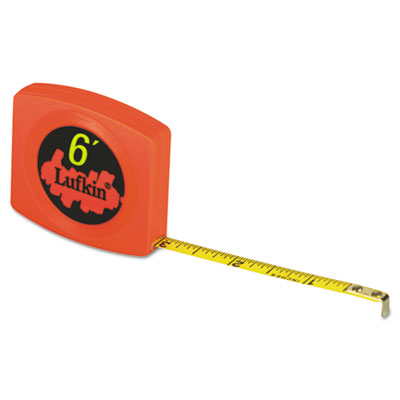 Pee wee pocket measuring tape, 6ft, sold as 1 each