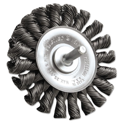 """Dualife stm-3 twist knot wire wheel, 3"""""""" dia, .02 wire, sold as 1 each"""