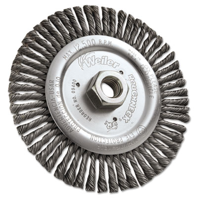"""Dualife stb-6 stringer bead twist knot wire wheel, 6"""""""" dia, .02 wire, sold as 1 each"""