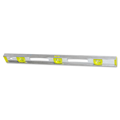 "Top read i-beam level, 24"""", silver, aluminum, sold as 1 each"