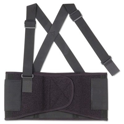 Proflex 1650 economy elastic back support, large, black, sold as 1 each
