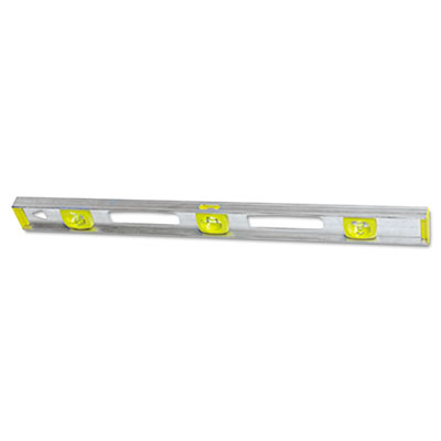 "Top read i-beam level, 48"""", silver, aluminum, sold as 1 each"