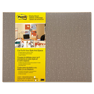 Cut-to-fit display board, 18 x 23, mocha, frameless, sold as 1 each
