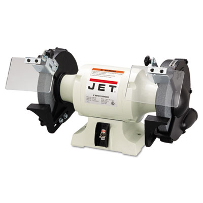 Jbg-8a industrial bench grinder, 8in wheel, 1hp, 3,450 rpm, sold as 1 each