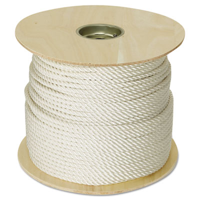 "Twisted nylon rope, 3/8"""" x 300ft, white, sold as 1 each"
