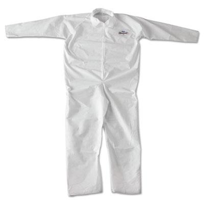 A20 breathable particle-pro coveralls, zip, 2xl, white, 24/carton, sold as 1 carton, 24 each per carton