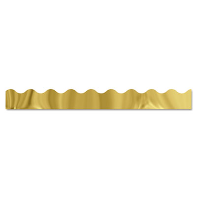 "Terrific trimmers metallic borders, gold, 10 strips, 2 1/4"" x 39"" each, sold as 1 package"